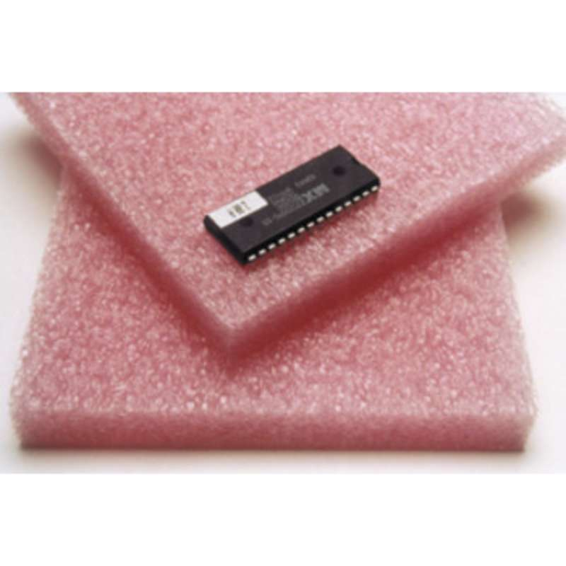 Anti-Static Pink Closed Cell Polyethylene Foam, 1/2 x 24 x 36