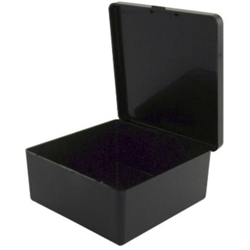 "Conductive Hinged Plastic Box, 3 x 3 x 1-1/4"""