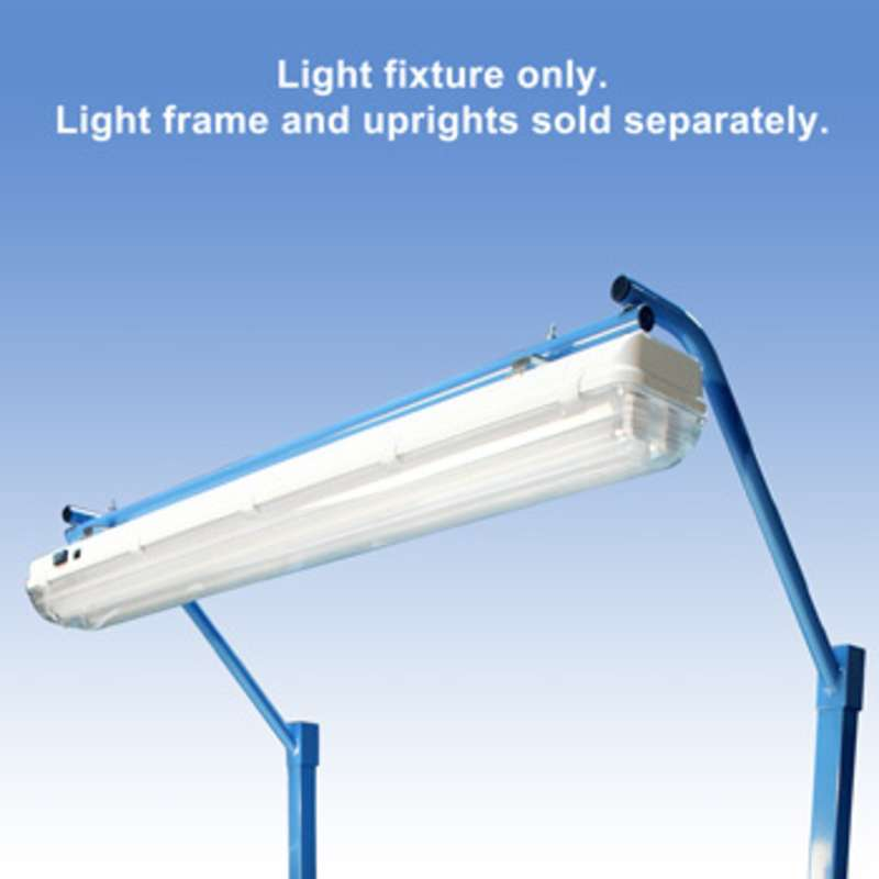 """Overhead Sealed Fluorescent Light Fixture with T8 Bulbs and Installed Cord, 26"""""""