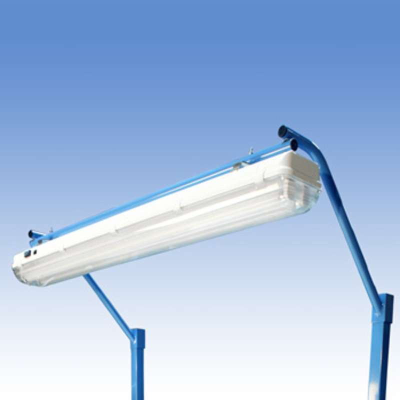 "Overhead Sealed Fluorescent Light Fixture and Light Frame with T8 Bulbs for 48"" or 96"" Benches"