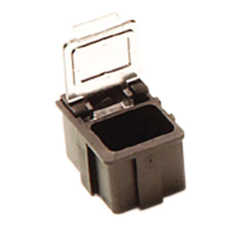 """Conductive Hinged SMD Storage Box with Transparent Lid, 5/8 x 1/2 x 19/32"""""""