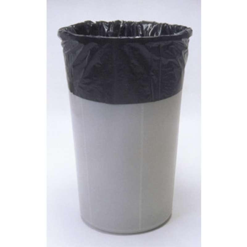 "Anti-Static 2mil Black Polyethylene 7-1/2 to 10 Gallon Trash Liner, 15 x 9 x 24"", 250 per Carton"