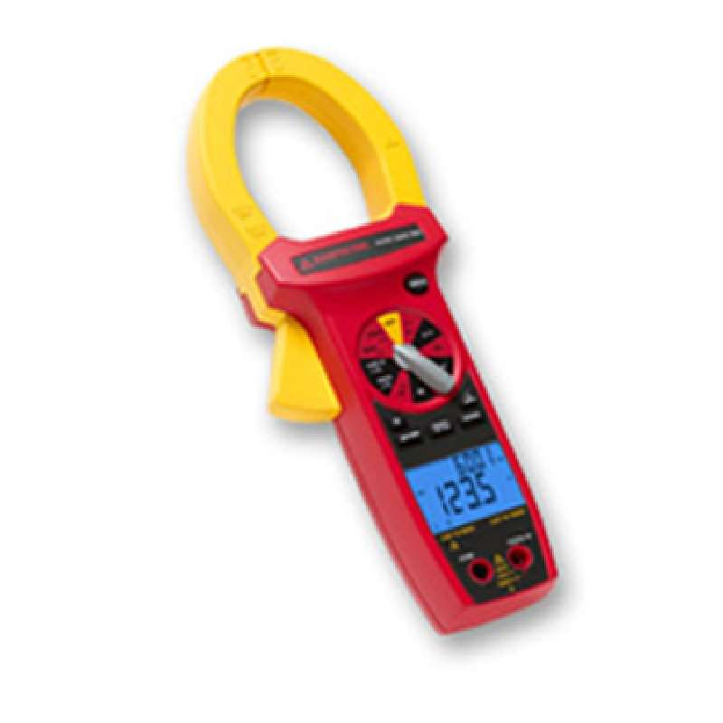 Digital True-RMS Industrial Clamp Meter CAT IV Rated with Test Leads and Case
