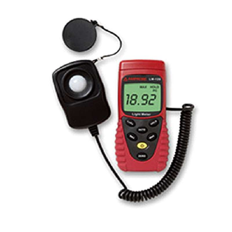 Light Meter with Auto/Manual Ranging, Data Hold and Case