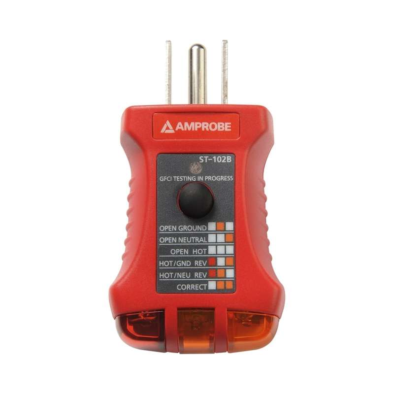Six Function Easy to Read Socket Tester for Receptacles and GFCI Breakers
