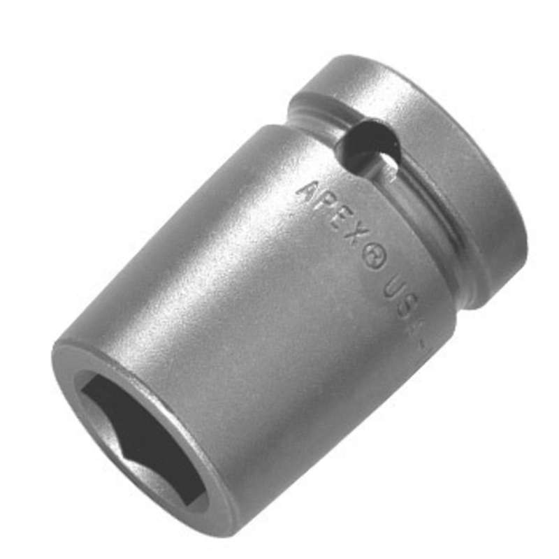 "6 Point Magnetic Metric Socket for 3/8"" Square Drive, 18mm x 1-1/2"" Long"