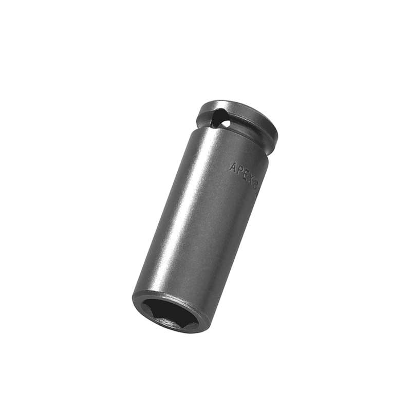"""Long 6 Point Magnetic Bolt Clearance Thin Wall SAE Socket for 3/8"""" Drive, 1/2 x 2"""" Long"""