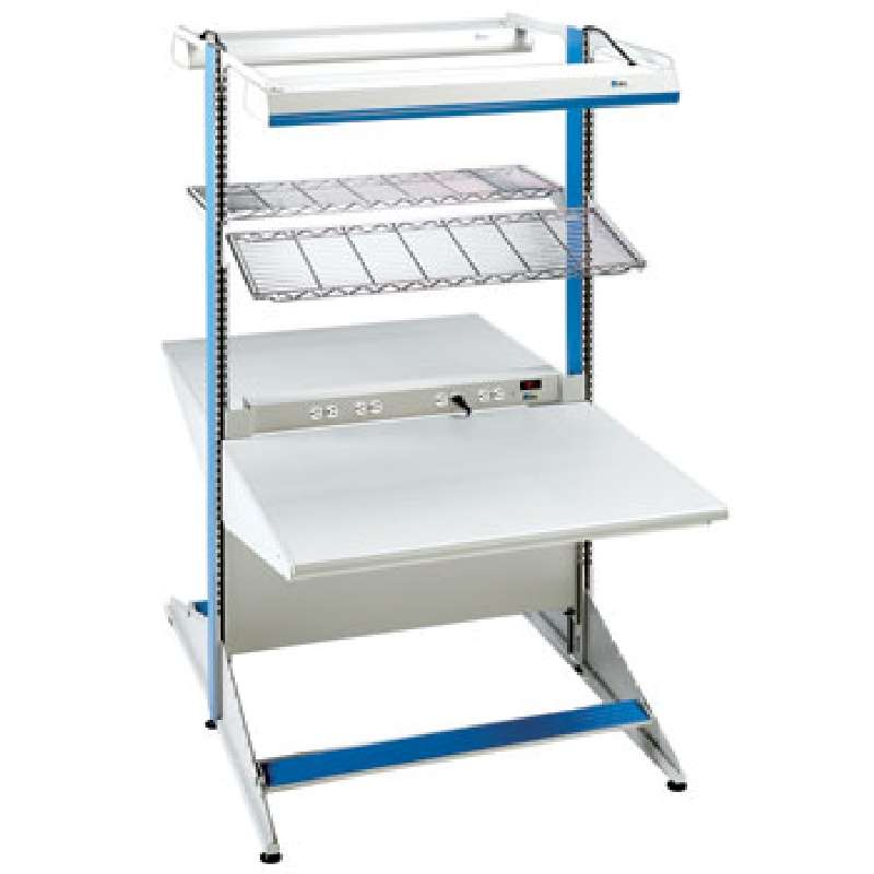 """8000 Series Double-Sided Workstation Starter Unit, 30""""D x 48""""W x 72""""H Columns"""