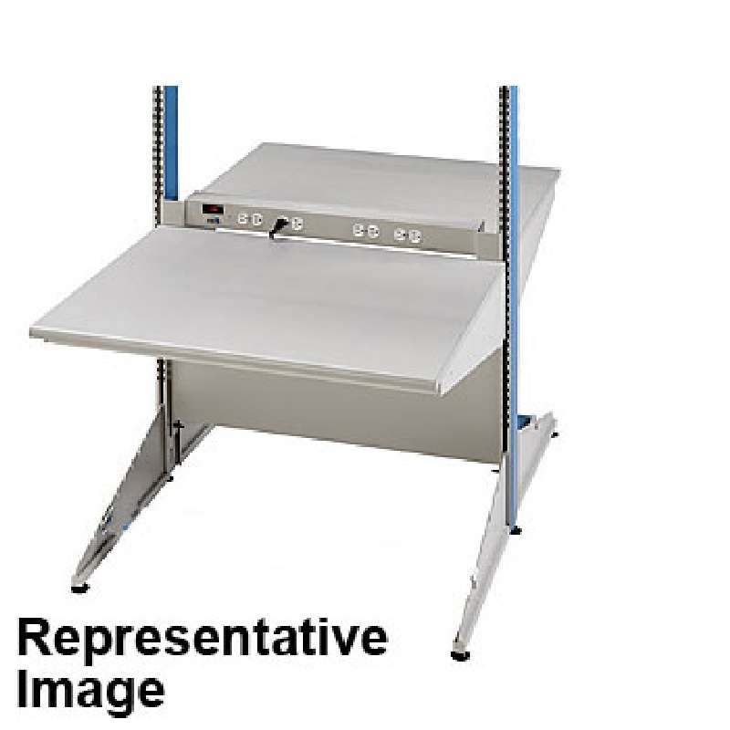 """8000 Series Double-Sided ESD-Safe Workstation Starter Unit, 30""""D x 72""""W x 72""""H Columns"""