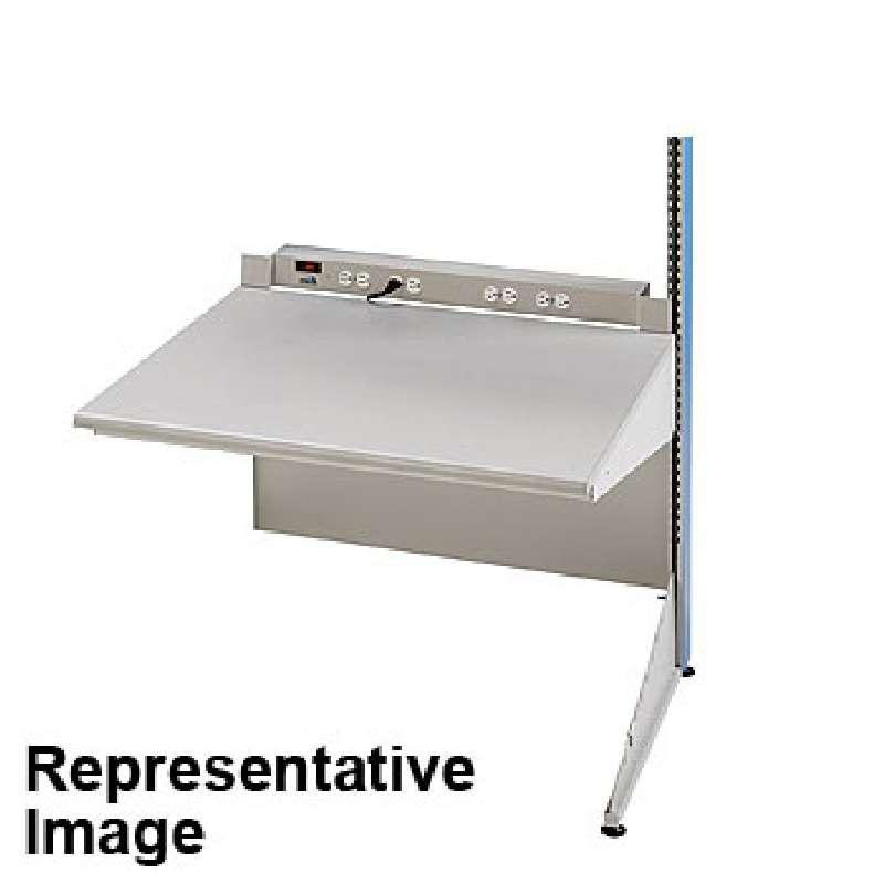 "8000 Series Single-Sided ESD-Safe Workstation Add-On Unit, 30""D x 60""W x 72""H Column"