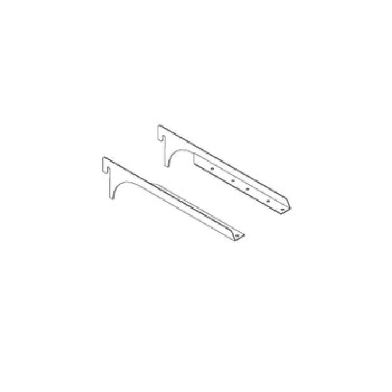 "Mounting Brackets, 14"", for Light Fixture, 1 Pair"