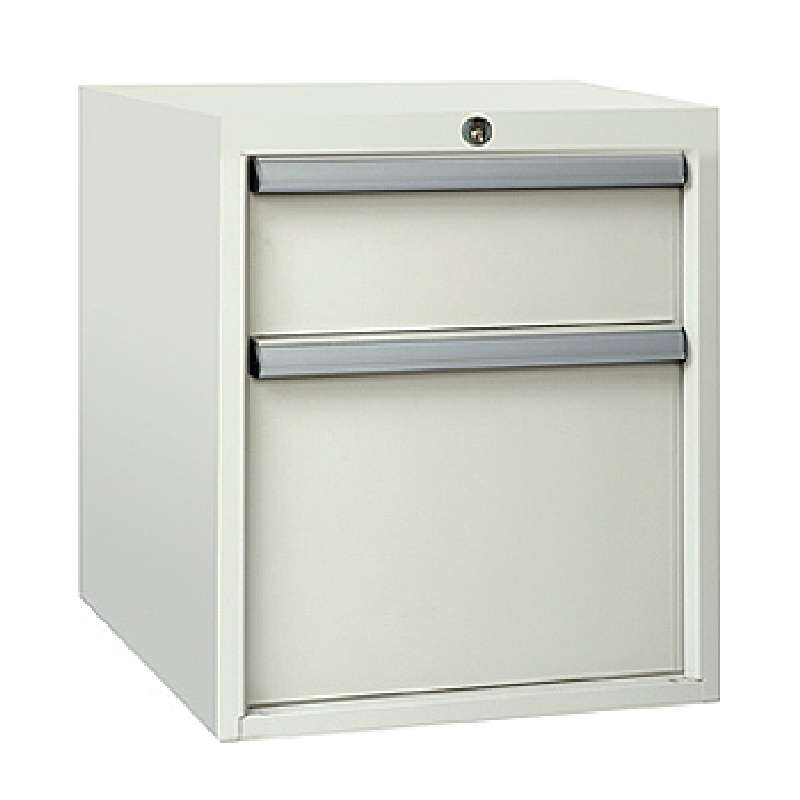 "8000 Series Drawer Assembly with one 5-3/4"" Drawer and one 12"" File Cabinet, 19-7/8 H x 19-1/4 D x 16-3/4"" W"