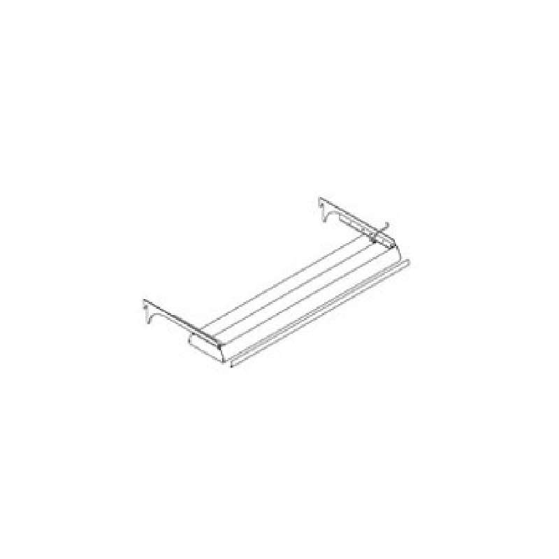 Fluorescent Light Fixture Assembly with Brackets and T-8 Ballast, 14 x 48""