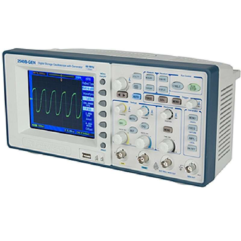 Digital Storage Oscilloscope with Color LCD Display, 60 MHz Bandwidth, LAN Connection, and Function/Arbitrary Waveform Generator