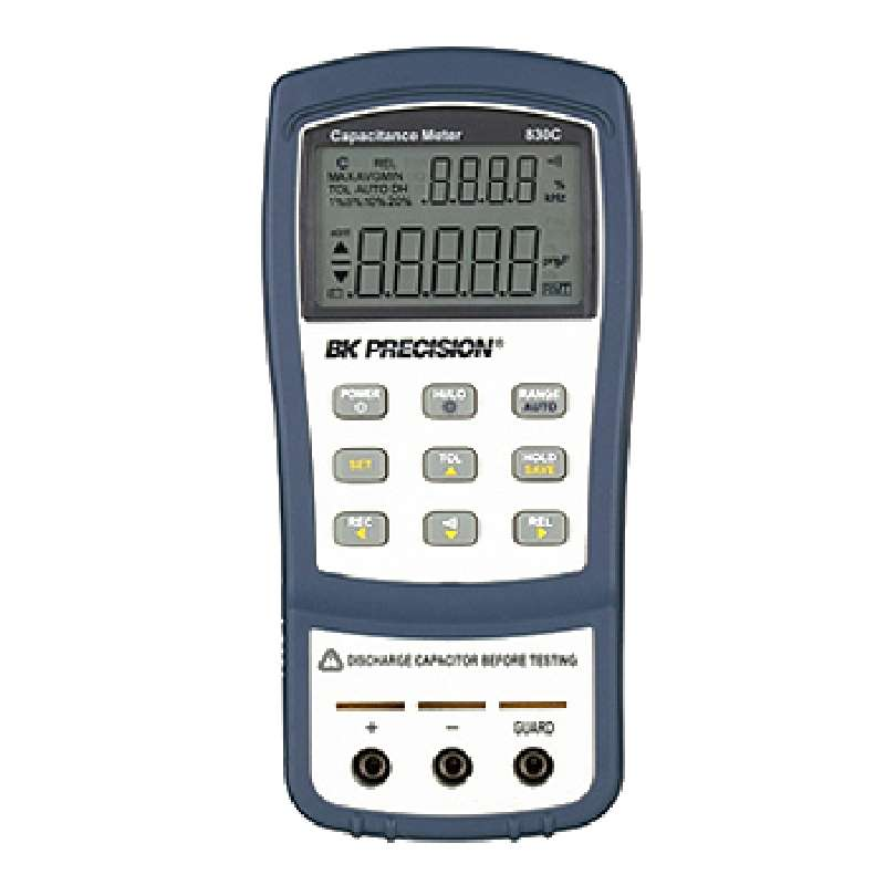 Capacitance Meter with 4.5 Digit LCD Dual Display, 9V Battery