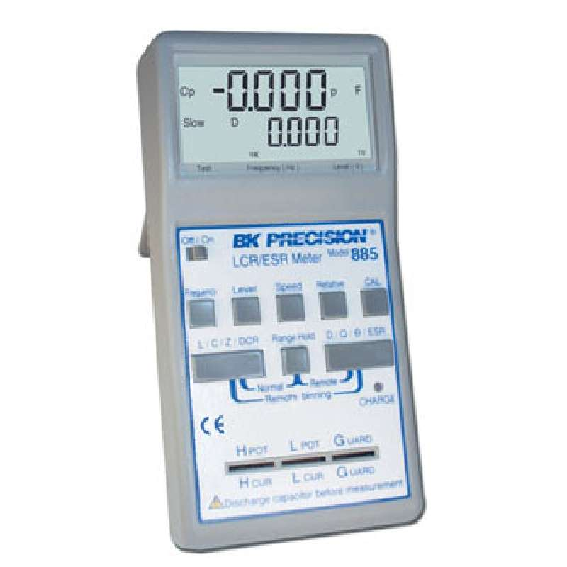 Synthesized In-Circuit LCR/ESR Meter, Up to 10 kHz, Includes SMD Probe