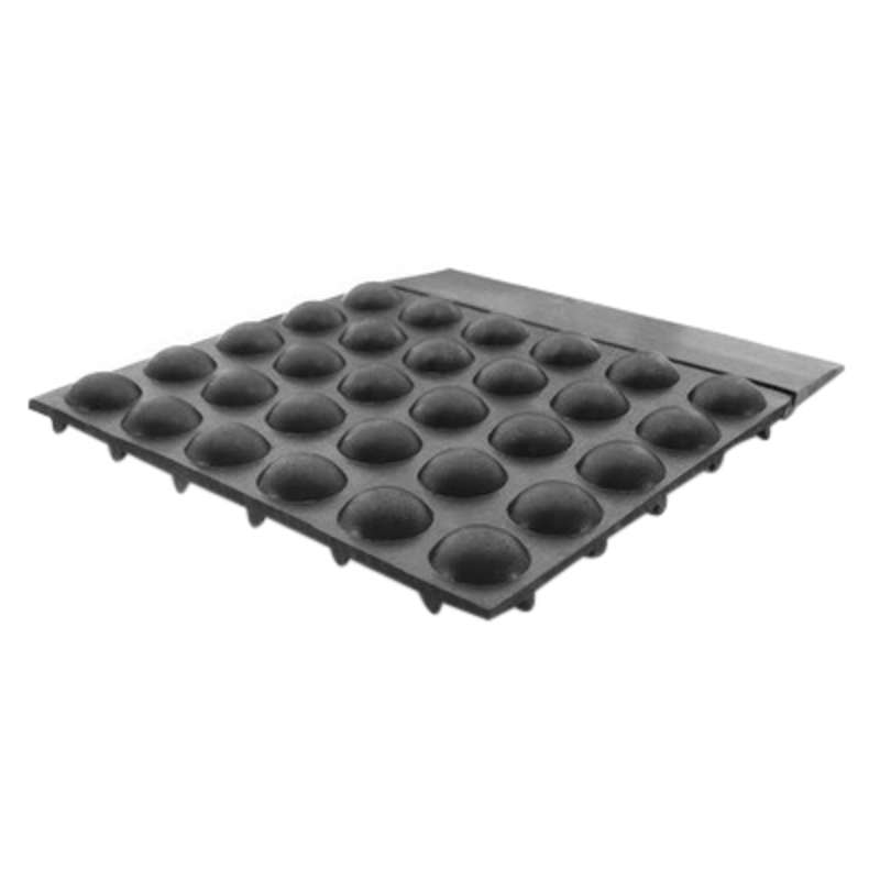Conductive Soft Rubber Foot Mat with Ground, Black, 3' x 4.5' x 1/2""