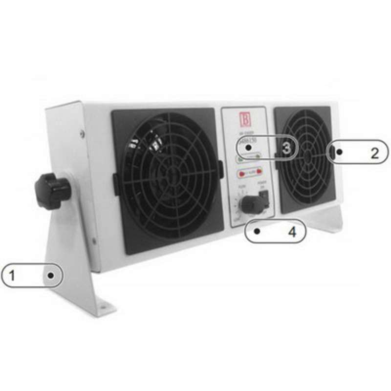 Botron® B486150 Dual Fan Air Bench Top Ionizer, 3.5 in x 18 in x 7 in