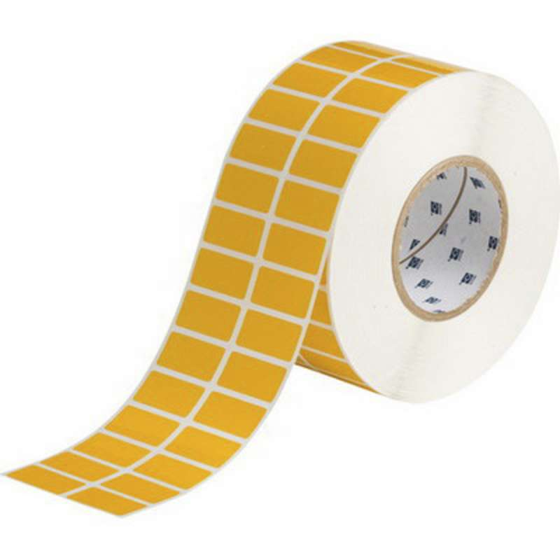 Tht polyester label yellow 1 5 x 0 75