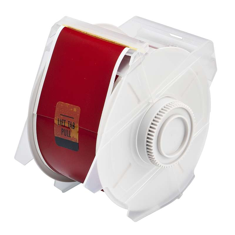 GlobalMark Series Polyester High Performance Labels, Red, B-569, 2.25 in x 100 ft per Roll