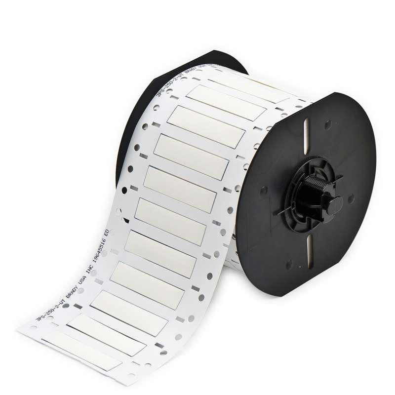 """BBP33 PermaSleeve™ Polyolefin Wire Marking Sleeves, Matte White, 0.415"""" x 2"""", 500 per Roll"""