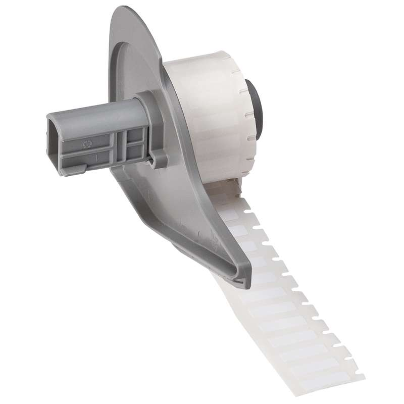 """BMP®71 Series Permanent Polyester Thermal Transfer Printer Labels, Gloss White, 0.650"""" x 0.200"""", 750 per Roll"""