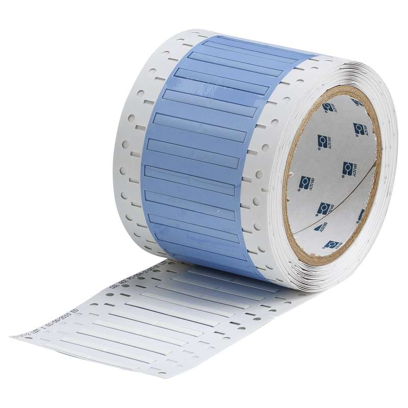 """3"""" Core Series PermaSleeve Wire Marker, B-342, White, 20- 28 AWG, 5000 Sleeves per Roll"""