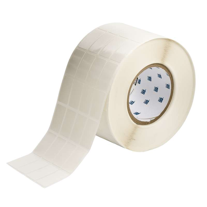 "3"" Core Series CleanLift Vinyl Thermal Transfer Label, B-498, White, 1.437 x 0.8 in, 5000 Labels per Roll"
