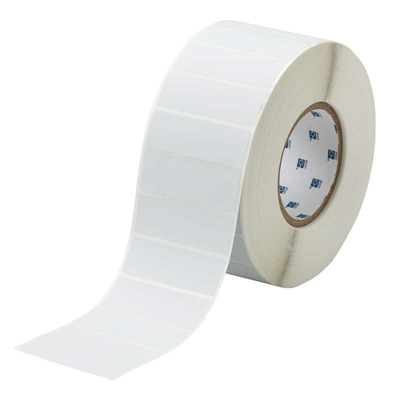 """3"""" Core Series Metallized Polyester Themal Tranfer Label, Light Gray, B-428, 1 x 3 in, 3000 Labels p"""