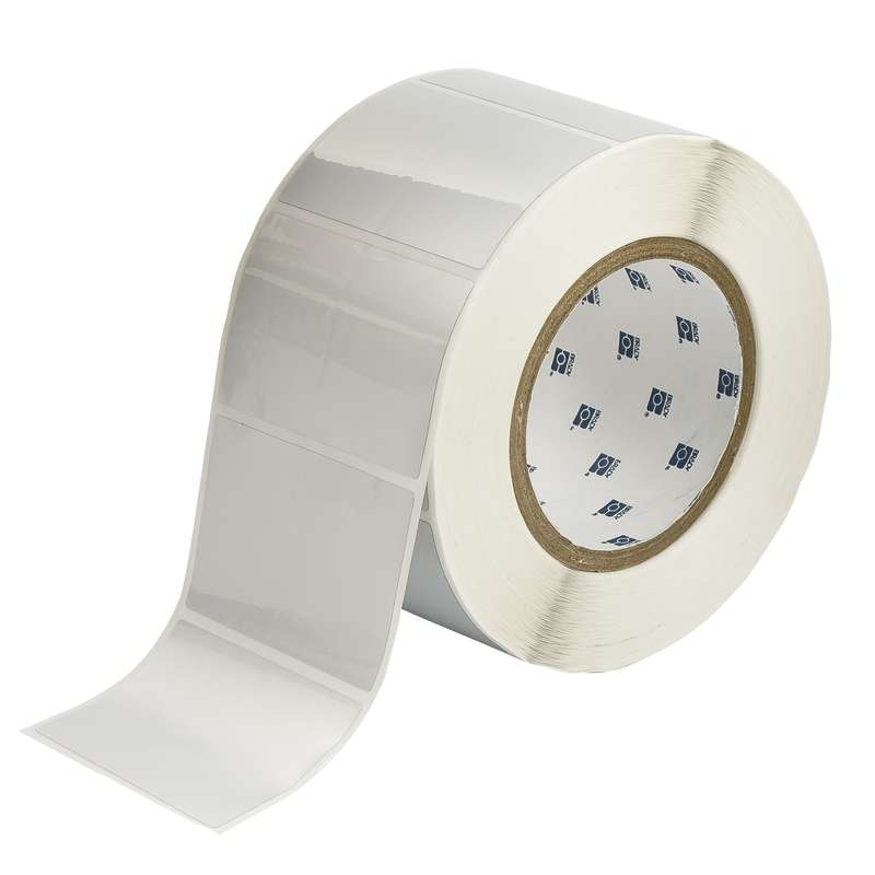"3"" Core Series Metallized Polyester Thermal Transfer Label, Silver, B-435, 2 x 3 in, 1000 Labels per Roll"