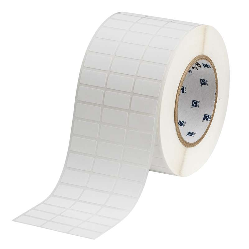 "3"" Core Seires WorkHorse Polypropylene Label, White, B-425, 0.5 x 1 in, 10000 Labels per Roll"