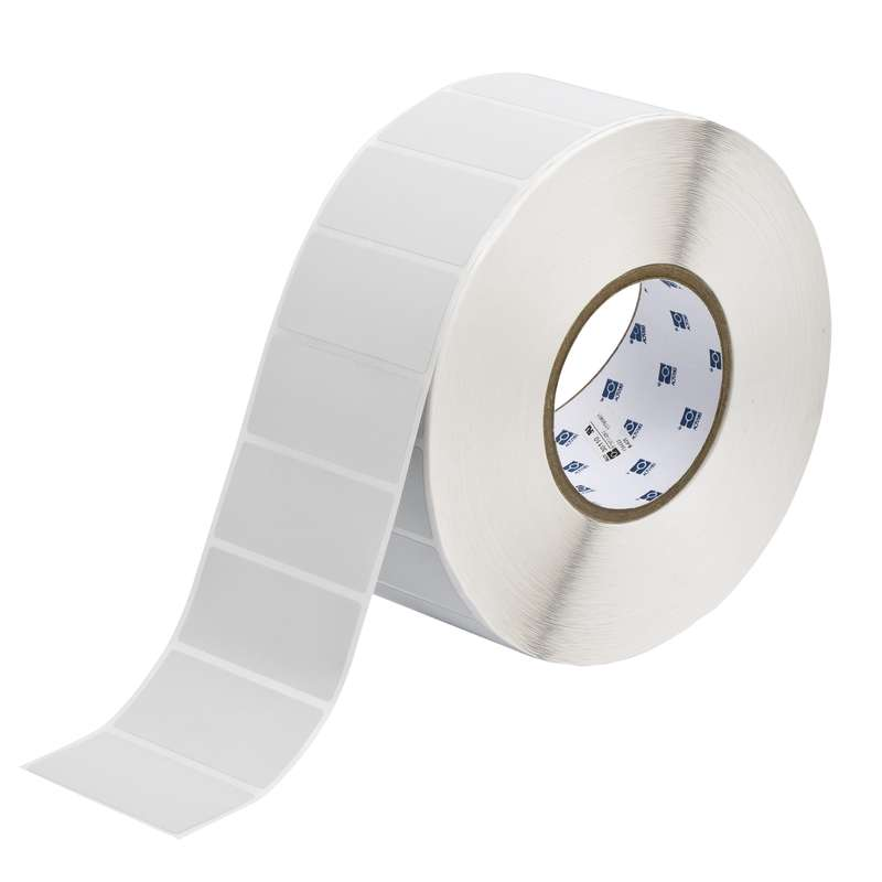 """3"""" Core Series Metallized Polyester Thermal Transfer Label, B-428, 1.25 x 2.75 in, 3000 Labels per Roll"""