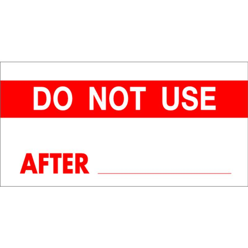 "Calibration Labels - Legend: DO NOT USE, 0.625 x 1.5"", 14 Labels per Card"