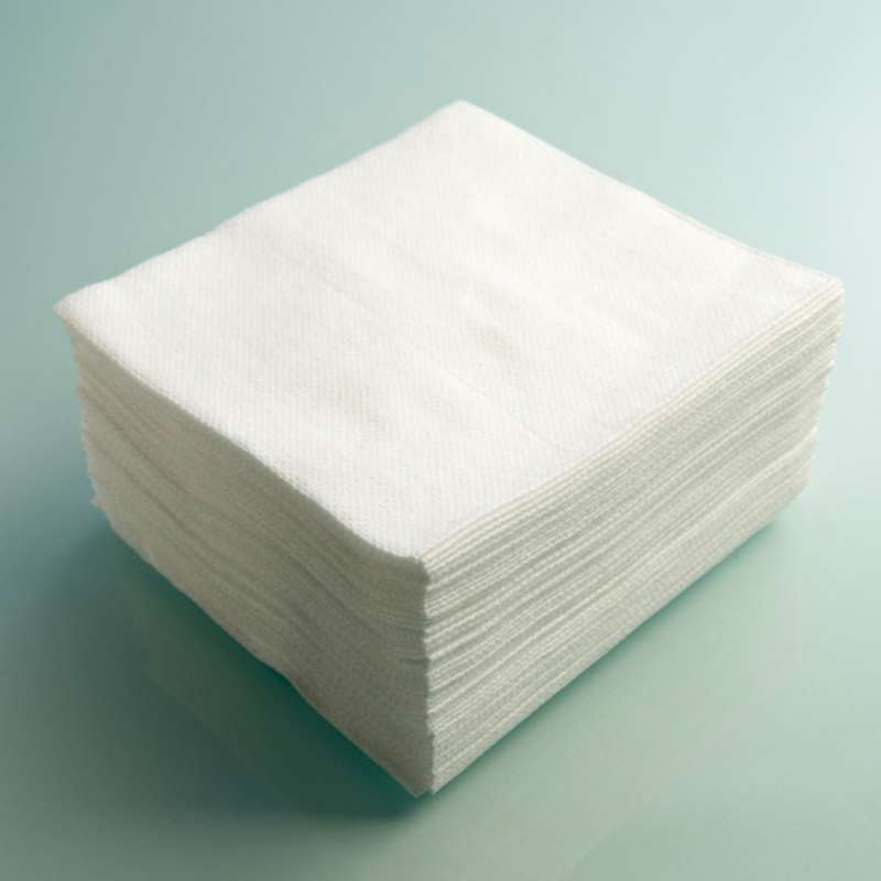 """EcoClean™ 60 Cleanroom Biodegradable Nonwoven 100% Cotton Wipes, 9 x 9"""", 300 per Package"""