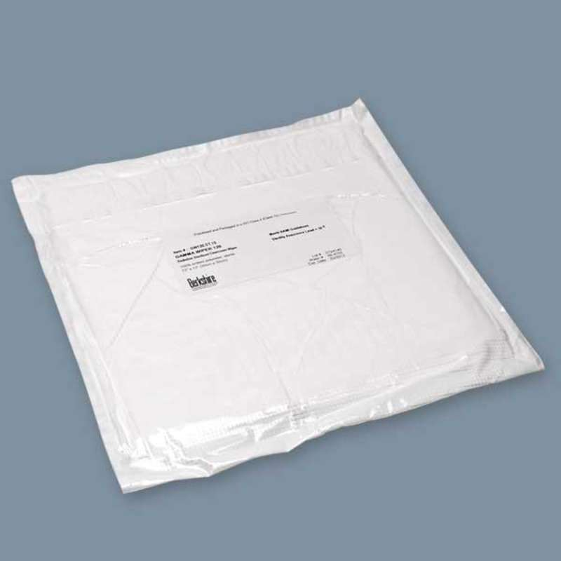 "Gamma Wipe™ 120 Cleanroom Sterile 100% Polyester Wipe, 12 x 12"", 100 per Package"