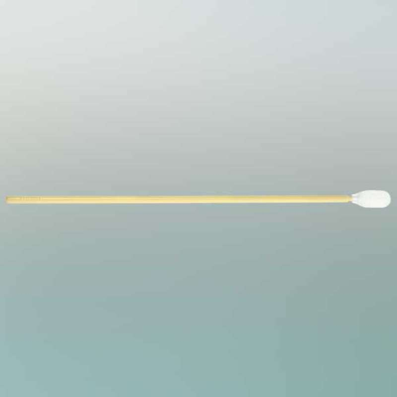 """Lab-Tips™ Cleanroom Nonwoven Polyester Swab with .257"""" Tip and Long Polypropylene Handle, 6.38"""" Long, 100 per Package"""