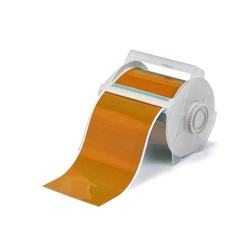 """GlobalMark® Indoor/Outdoor Grade Vinyl Tape, 1/2"""" x 100', Orange, 1 Roll"""