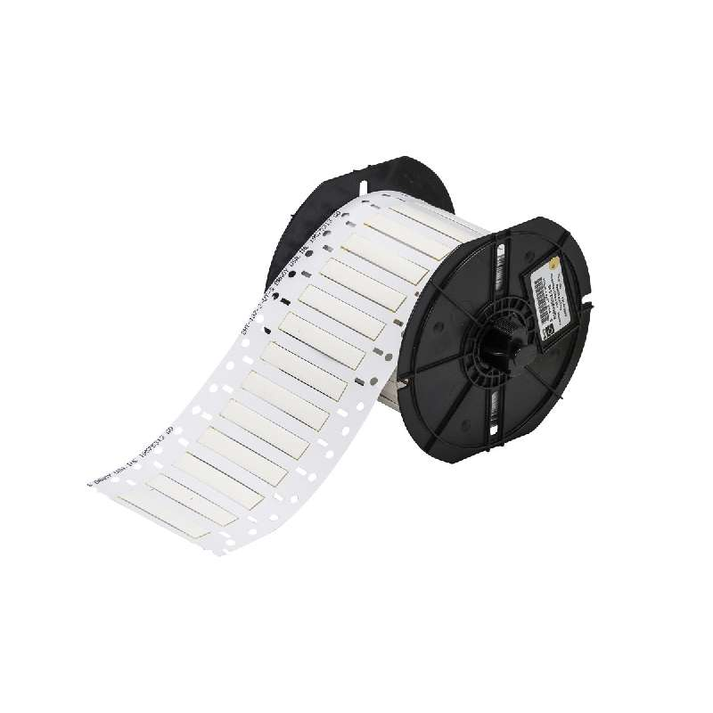 """BBP33 PermaSleeve™ Polyolefin Wire Marking Sleeves, Matte White, 2"""" x 3/16"""", 750 per Roll"""