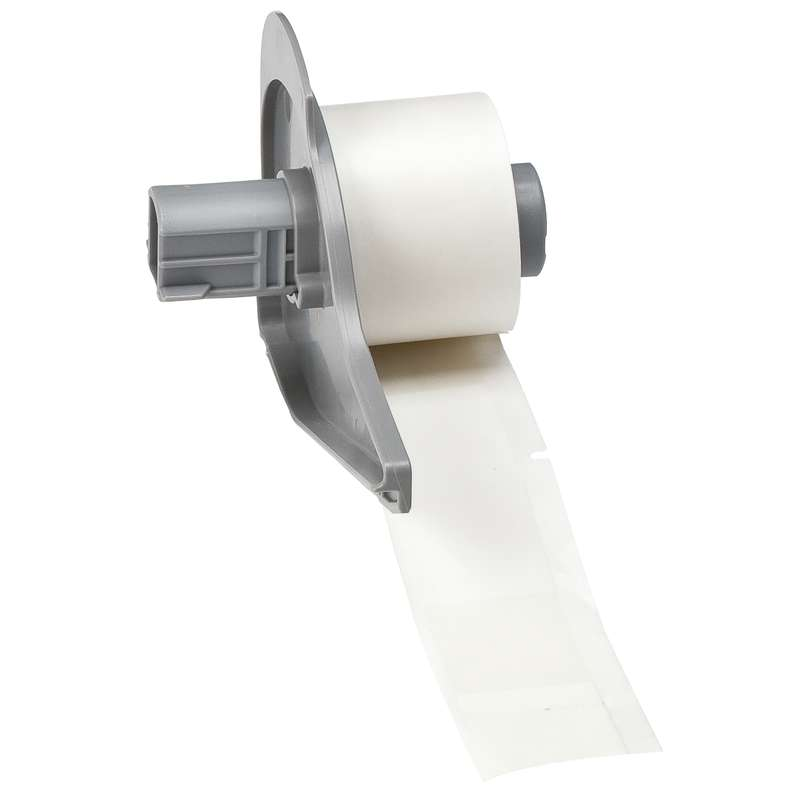 BMP7 Self-Laminating Cable and Wire Labels, B-427, Clear/White, 3.375 x 1 in, 100 Labels per Roll