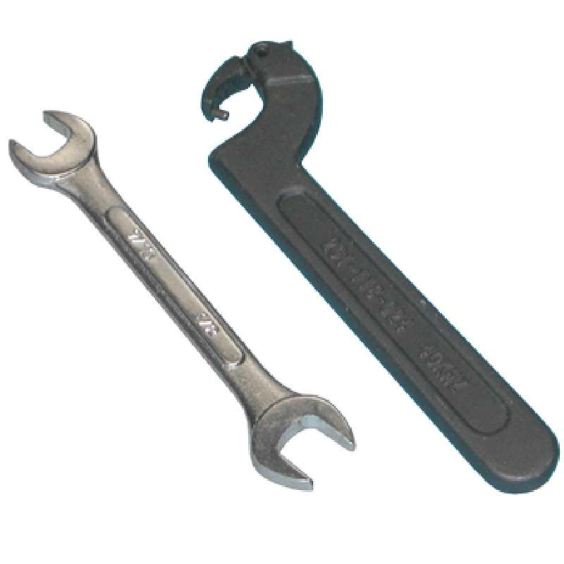 Tool Kit with Two Spanner Wrenches