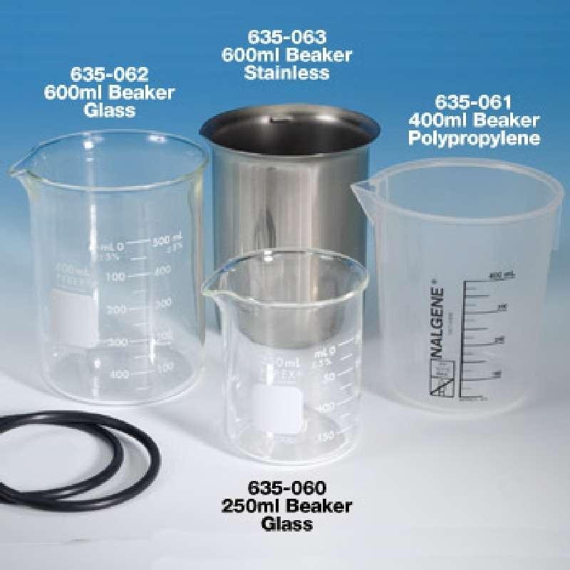 Glass Beaker for Ultrasonic Cleaners, 600mL
