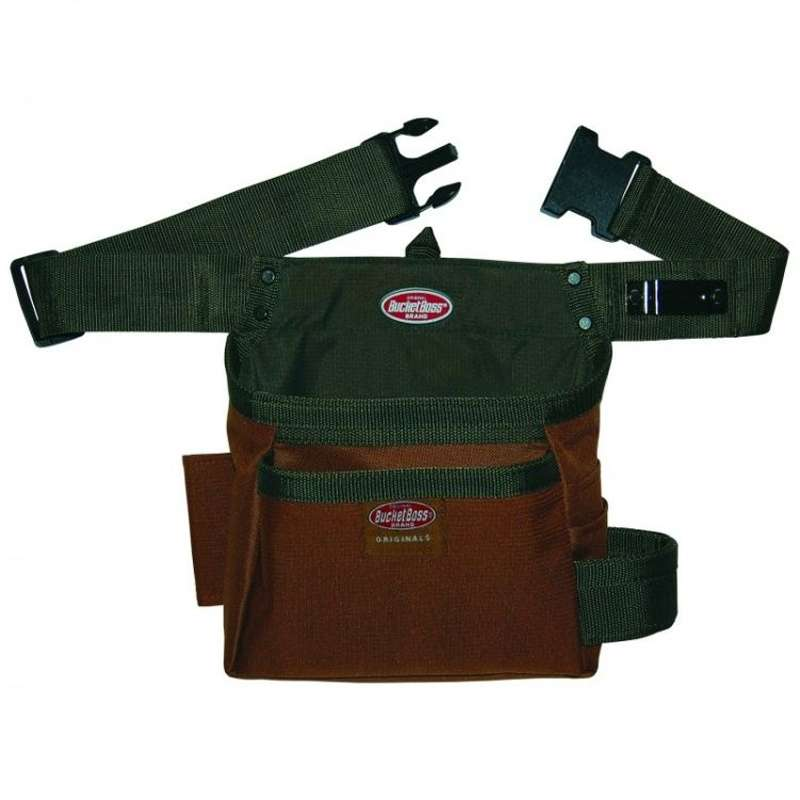 Tool Holster Tool Belt with 5 Pockets and Dual Hammer Loop