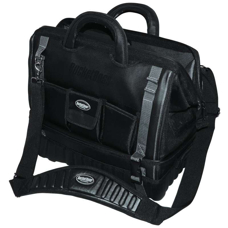 "Pro Drop-Bottom 18 Tool Bag with 14 Pockets, 18"" x 11.5"" x 16"""