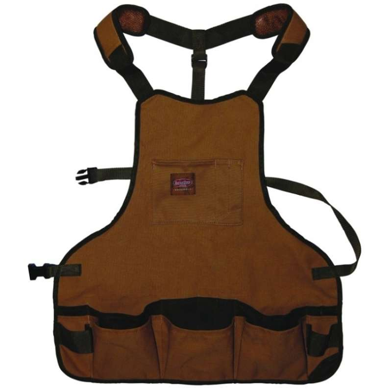 Canvas Bib Apron with 16 Pockets and Dual Hammer Loops