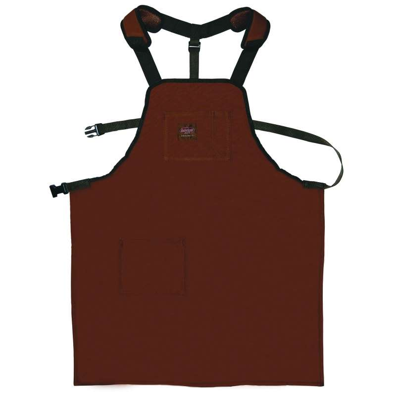 """SuperShop Apron with Padded Shoulder Straps and 2 Pockets, 26.5"""" x 32"""""""