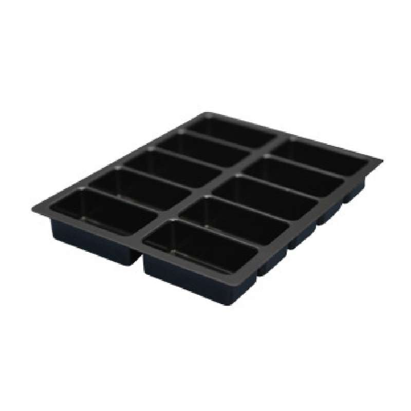 Conductive Kitting Tray with 10 Compartments, 9-1/4 x 7-3/8 x 1-1/8
