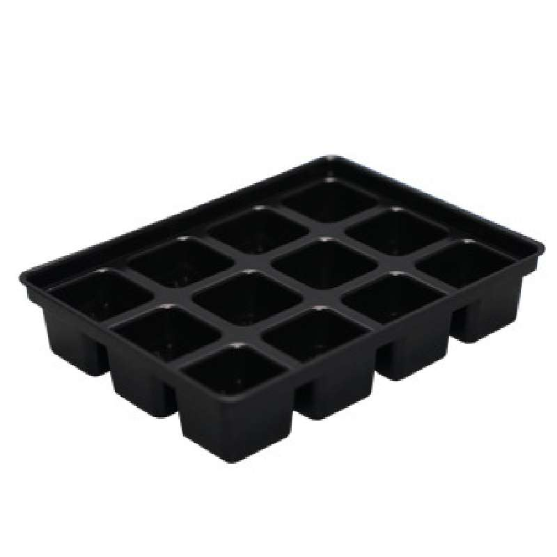 Conductive Kitting Tray with 12 Compartments, 8-1/4 x 6-1/4 x 1-5/8""