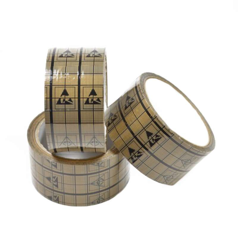 "ESD Transparent Tape, with printed ESD Symbols, 2"" x 40 yards"