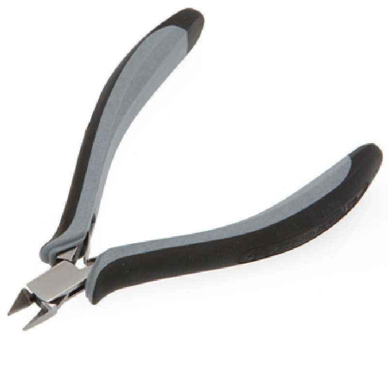"""ESD-Safe Tapered and Relieved Head Full Flush Cutters with Ergonomic Cushion Grip Handles, 4-3/4"""" Long"""