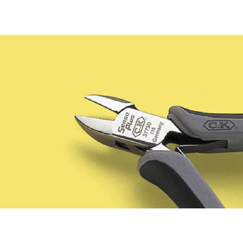 """ESD-Safe Oval Head Full Flush Cutters with Ergonomic Grip Handles, 5"""" Long"""